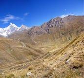 carnicero山脉huayhuash 免版税库存图片