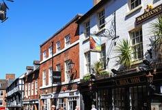 Carnicero Row, Shrewsbury Foto de archivo