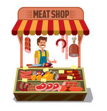 Carnicero Shop del vector libre illustration