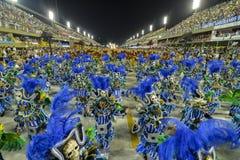Carnival 2018 – Viradouro. RIO DE JANEIRO, RJ /BRAZIL - FEBRUARY 13, 2018: Samba School parade in Sambodromo. Beija-Flor de Nilópolis during festival at royalty free stock photos