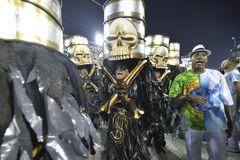 Carnival 2018 – Viradouro. RIO DE JANEIRO, RJ /BRAZIL - FEBRUARY 13, 2018: Samba School parade in Sambodromo. Beija-Flor de Nilópolis during festival at stock images