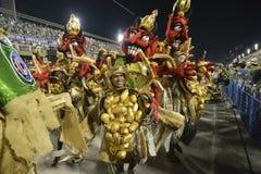 Carnival 2018 – Viradouro. RIO DE JANEIRO, RJ /BRAZIL - FEBRUARY 13, 2018: Samba School parade in Sambodromo. Beija-Flor de Nilópolis during festival at royalty free stock photo