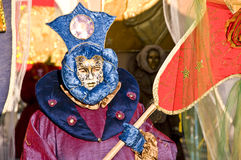 Carnival. A mask dressed for the festival Carnival, Crema, Italy Stock Photo