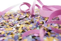Carnival. Colorful carnival confetti and streamers