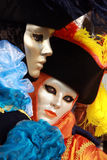 Carnival. Woman in full decorative carnival costume in Venice Royalty Free Stock Photo