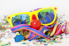 Carnival. Colorful carnival background with stripes and mask Royalty Free Stock Photos