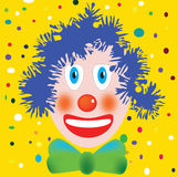 Carnival. A funny clown with carnival background Stock Photo