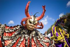 Carnival. Costumes from the town of Ponce Royalty Free Stock Photo