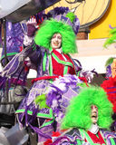 Carnival 2014, Aalst. AALST, BELGIUM - MARCH 02 2014: Unidentified participants in the annual carnival parade. Carnival is recognized by UNESCO as an event of Royalty Free Stock Photo