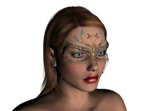 Carnival. Beautiful girl with carnival mask Royalty Free Stock Photography