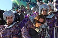 Carnival. People in  masks for carnival. The shot was taken in Italy during the carnival of Viareggio Stock Image