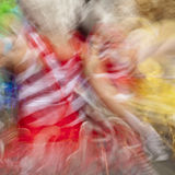 Carnival. Blurred view of a carnival performance Stock Images