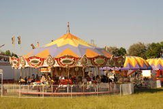 Carnival 3. Merry-Go-Round at Small Town Carnival stock image