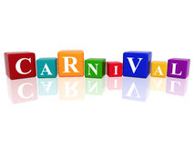 Carnival in 3d cubes Stock Image