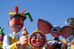 Carnival. Of the city of Nice in French Riviera Royalty Free Stock Photo