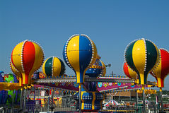 Carnival. Ride with bright balloons stock image