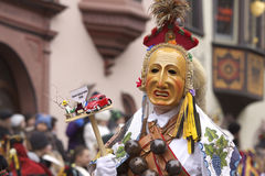 Carnival. Rotweil, Mask, Alemannic, traditional, Federahannes Stock Photography