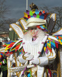 Carnival 2014, Aalst. AALST, BELGIUM, MARCH 03 2014: Unknown Aalst carnival participant dances in the annual parade. The Carnival is recognized by UNESCO as an Stock Photo