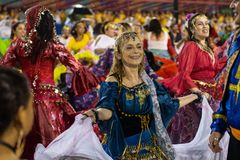 Carnival 2019 Alegria da Zona Sul royalty free stock image