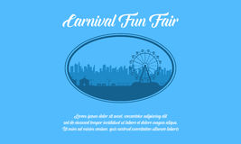 Carnival and amusement park theme background. Vector stock illustration
