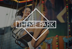 Carnival Amusement Park Theme Fun Concept Stock Photo