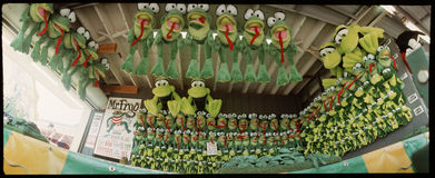 Carnival arcade game--frogs! Stock Image