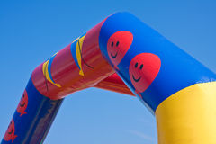Carnival attraction. Detail of inflatable carnival attraction Stock Photo