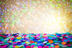 Carnival background with confetti Royalty Free Stock Photo
