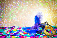 Carnival background with confetti Royalty Free Stock Photos
