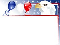 Carnival background. Independence day background with balloons and ribbons vector illustration