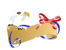 Carnival background. Independence day background with parchment and eagle royalty free illustration