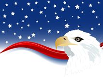Carnival background. Independence day background with wave and stars royalty free illustration