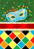 Carnival background with mask and copyspace royalty free illustration