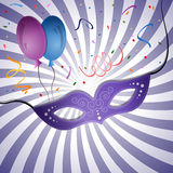 Carnival background. Carnival mask on a background with rays. EPS 10 Royalty Free Stock Photography