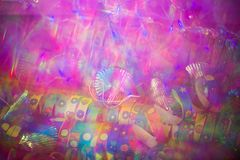 Carnival, background with party hats and streamers. Ney year Stock Images