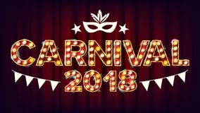 Carnival Background Vector. Carnival Shining Light Sign. For Masquerade Invitation Design. Modern Illustration. Carnival Background Vector. Carnival Shining Royalty Free Stock Photo