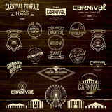 Carnival badges logos and labels for any use Royalty Free Stock Photos