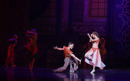 """Carnival balll- ballet """"One Thousand and One Nights"""" Stock Photos"""