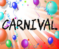 Carnival Balloons Indicates Joy Party And Festival Stock Photography