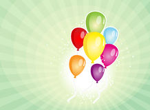 Carnival Balloons Party Banner Stock Photos