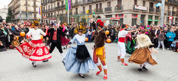 Carnival Balls to the Popular Culture and Traditional Catalan Stock Photo