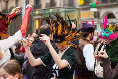 Carnival Balls to the Popular Culture and Traditional Catalan Royalty Free Stock Photography