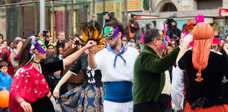 Carnival Balls to the Popular Culture and Traditional Catalan Stock Images