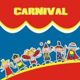 Carnival, banner, vector icon, happy kids Royalty Free Stock Image
