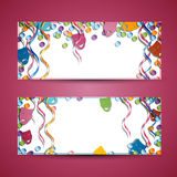 Carnival Banners Royalty Free Stock Images