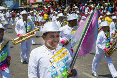 Carnival of Barranquilla, in Colombia. Barranquilla, Colombia - March 1, 2014: People at the carnival parades in the Carnival of Barranquilla, in Colombia Royalty Free Stock Photo