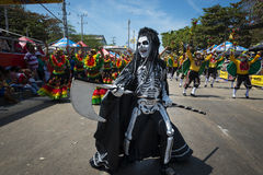 Carnival of Barranquilla, in Colombia. Barranquilla, Colombia - March 1, 2014: People at the carnival parades in the Carnival of Barranquilla, in Colombia Stock Image