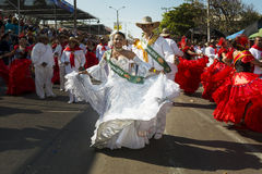 Carnival of Barranquilla, in Colombia. Stock Images