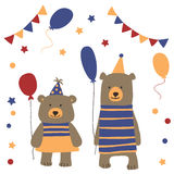 Carnival bears clipart Royalty Free Stock Image