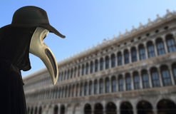 Carnival bird mask in venice Royalty Free Stock Photos